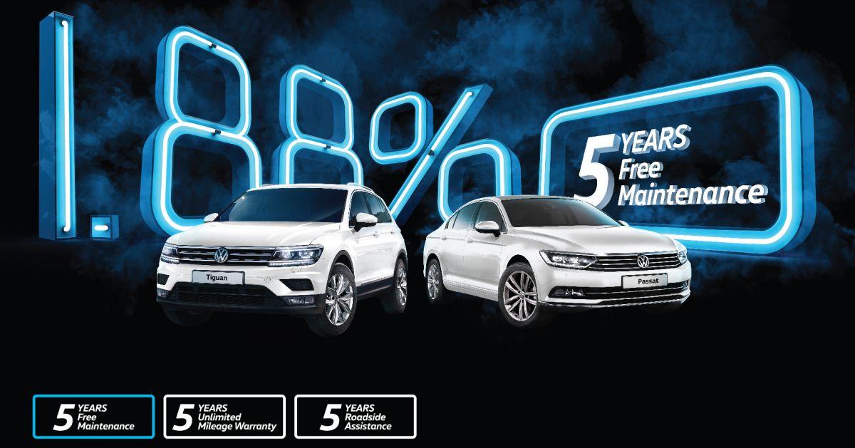 VW Tiguan, Passat now get five-year free maintenance