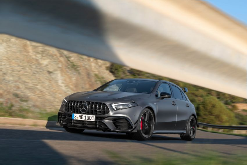 W177 Mercedes-AMG A45 4Matic+ debuts with up to 421 PS, 500 Nm – 0-100 km/h in 3.9s; Drift mode Image #981669