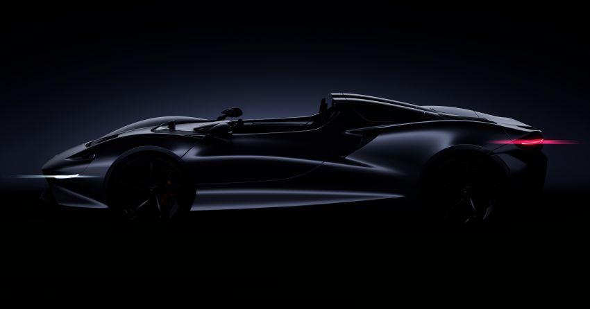 McLaren to debut new Ultimate Series roadster at Pebble Beach – positioned between Senna & Speedtail Image #1003425