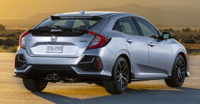 2020 Honda Civic Hatchback facelift debuts in the US Image #1001843