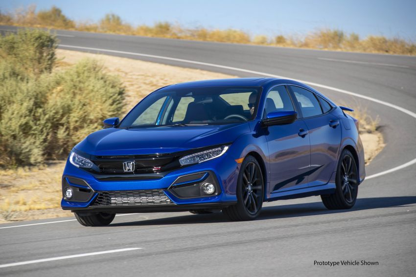 2020 Honda Civic Si Coupe and Sedan debut in the US Image #1006469