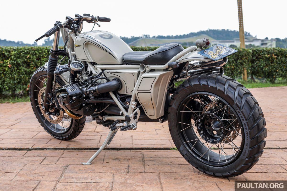 GALLERY: BMW x Heiwa R nineT Scrambler and STG Nautilus - custom build bikes from Japan