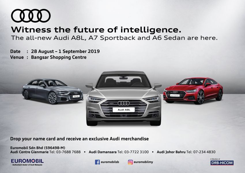 AD: Check out the new Audi A6, A7, A8 L and Q8 and receive exclusive merchandise at BSC this week! Image #1007500