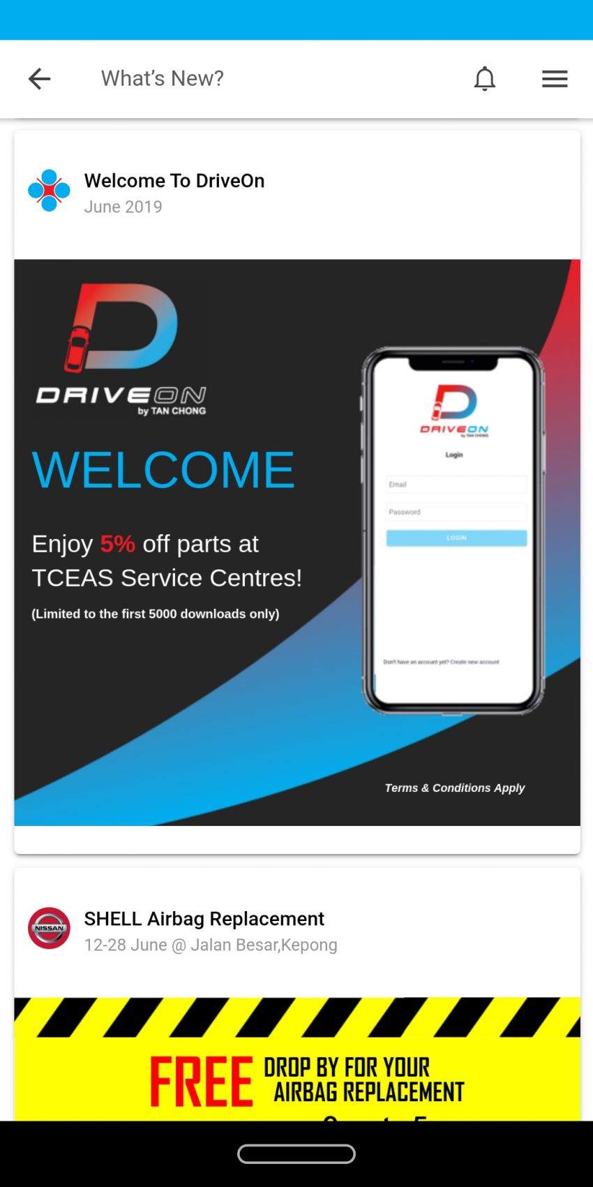 Tan Chong launches DriveOn mobile app for owners of Nissan, Renault and Infiniti vehicles in Malaysia Image #1000520
