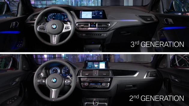 F40 BMW 1 Series compared against previous F20 generation