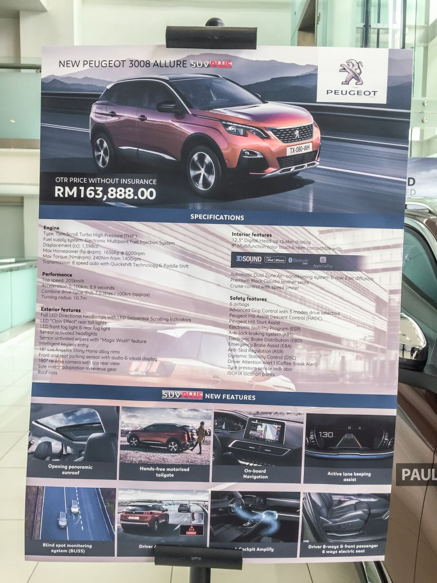 2019 Peugeot 3008 Plus, 5008 Plus CKD launched in Malaysia –  from RM151k; 1.6L Active, Allure variants Image #1007343