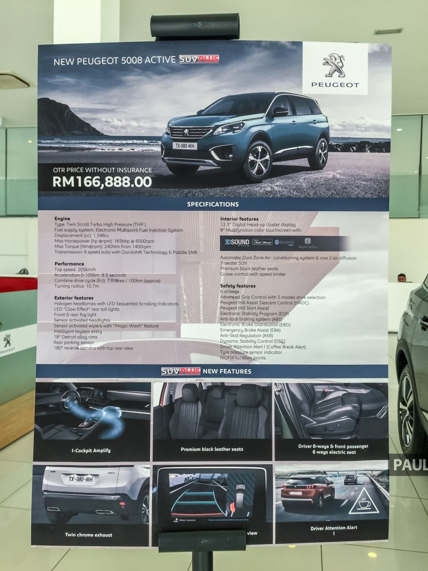 2019 Peugeot 3008 Plus, 5008 Plus CKD launched in Malaysia –  from RM151k; 1.6L Active, Allure variants Image #1007242