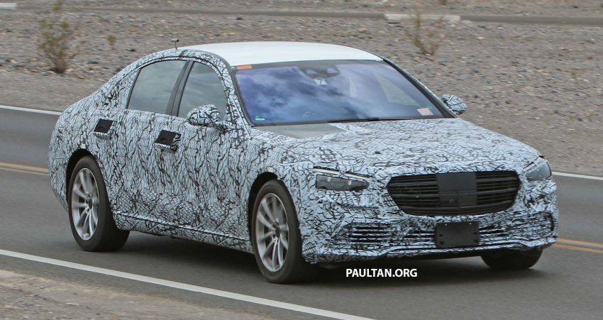 SPIED: W223 Mercedes-Benz S-Class spotted with production face; to drop standard wheelbase variant? Image #1006519