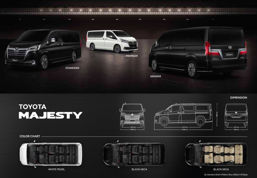Toyota Majesty launched in Thailand, a luxe Commuter Image #1003426
