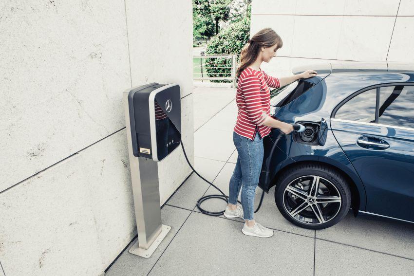 W177 Mercedes-Benz A250e plug-in hybrid debuts – joined by A250e Sedan and B250e; 70-77 km EV range Image #1003451