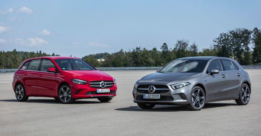 W177 Mercedes-Benz A250e plug-in hybrid debuts – joined by A250e Sedan and B250e; 70-77 km EV range Image #1003442