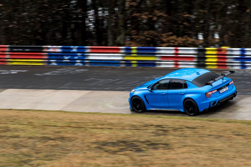 Lynk & Co 03 Cyan Concept breaks Nurburgring four-door and front-wheel-drive records with 7:20.143 lap Image #1005525