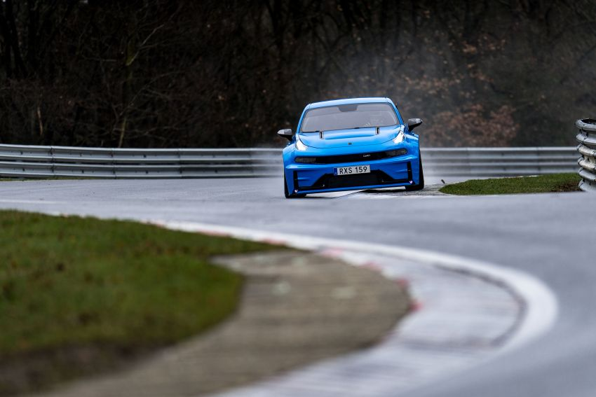 Lynk & Co 03 Cyan Concept breaks Nurburgring four-door and front-wheel-drive records with 7:20.143 lap Image #1005526