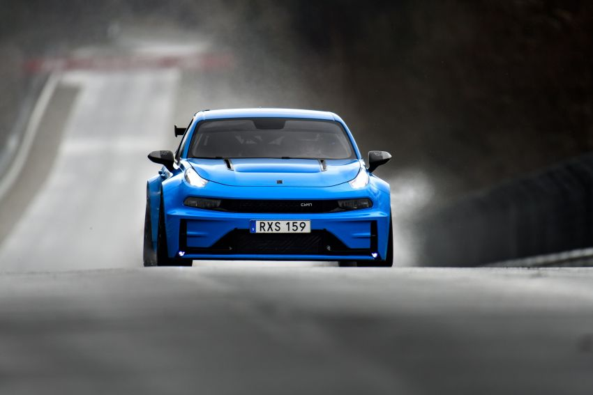 Lynk & Co 03 Cyan Concept breaks Nurburgring four-door and front-wheel-drive records with 7:20.143 lap Image #1005527