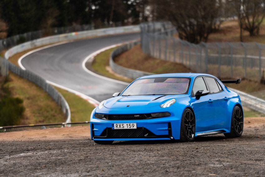 Lynk & Co 03 Cyan Concept breaks Nurburgring four-door and front-wheel-drive records with 7:20.143 lap Image #1005512
