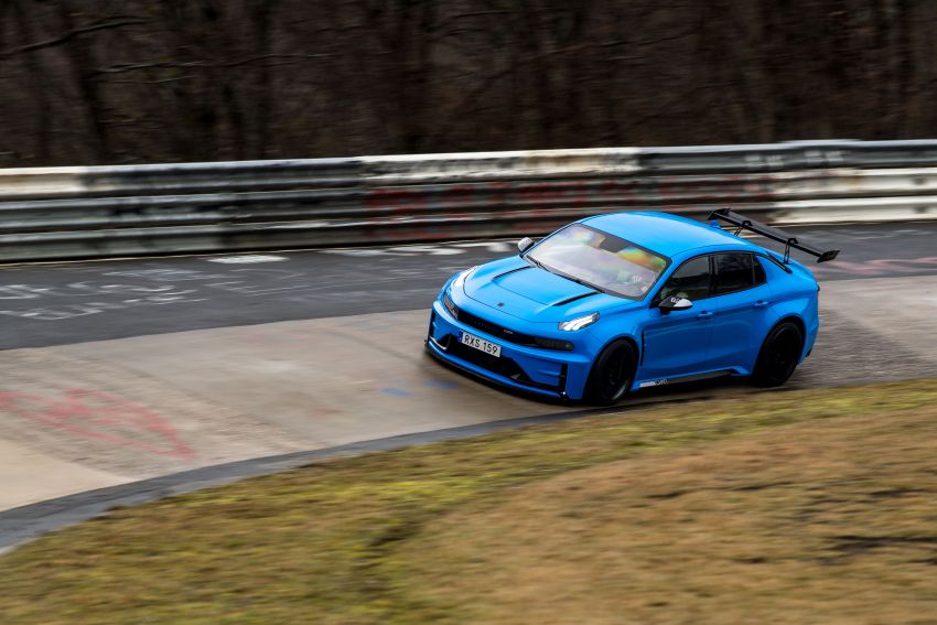 Lynk & Co 03 Cyan Concept breaks Nurburgring four-door and front-wheel-drive records with 7:20.143 lap Image #1005523