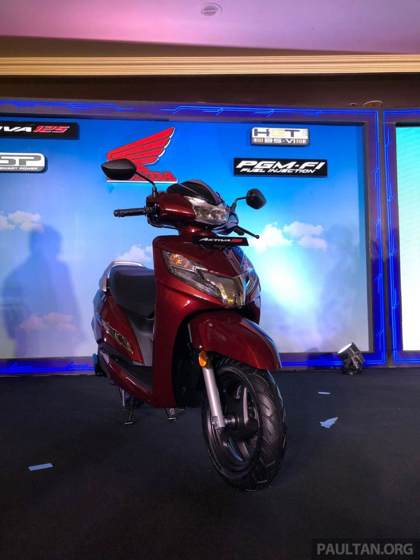 2019 Honda Activa 125 BSVI launched in India – from RM3,932, three model variants, with PGM-Fi Image #1014402