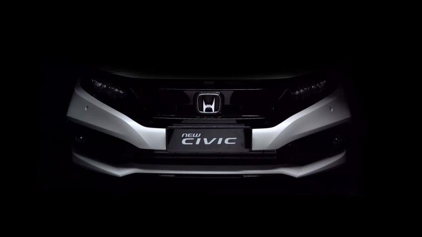 Honda Civic facelift 2019 – tempahan kini dibuka, terima Honda Sensing, dilancar suku ke-4 tahun ini Image #1012401