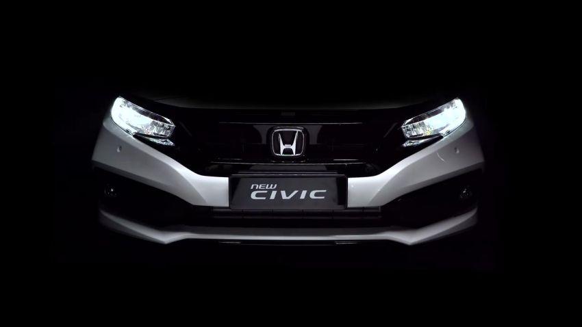 Honda Civic facelift 2019 – tempahan kini dibuka, terima Honda Sensing, dilancar suku ke-4 tahun ini Image #1012400