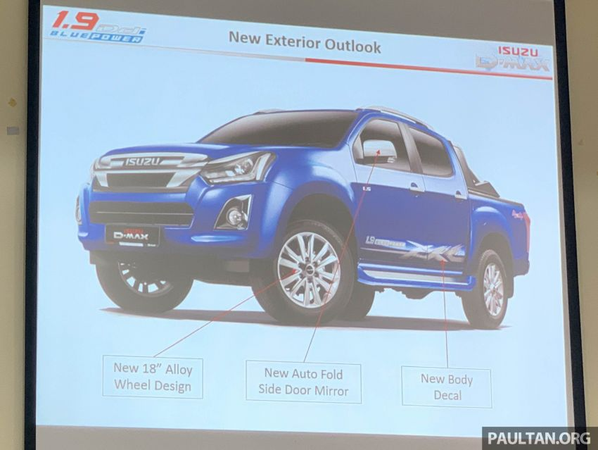 2019 Isuzu D-Max 1.9L Ddi BluePower to be launched in Malaysia on September 18 – 150 PS and 350 Nm Image #1011180