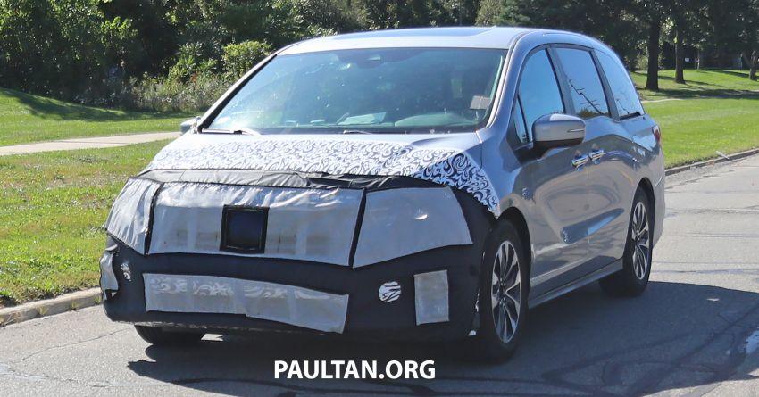 SPYSHOTS: 2021 Honda Odyssey facelift – US-spec Image #1023313