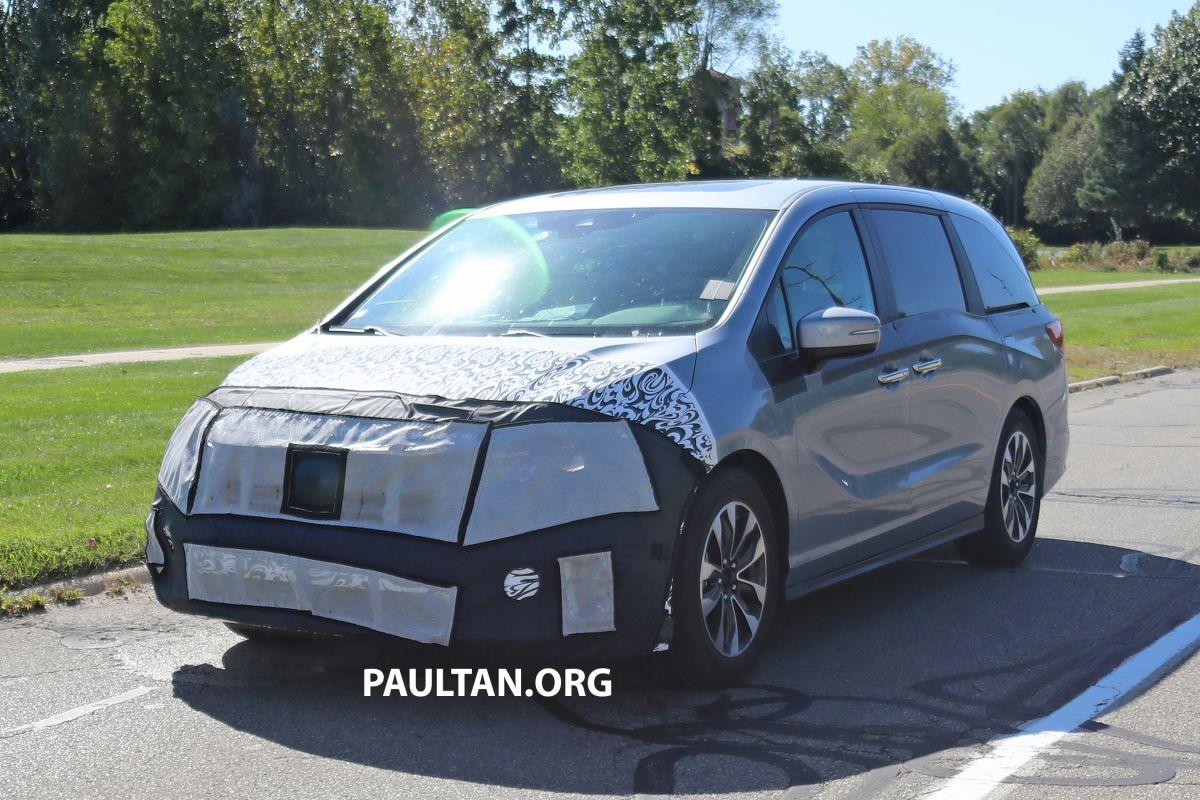 SPYSHOTS: 2021 Honda Odyssey facelift - US-spec 2021 Honda ...