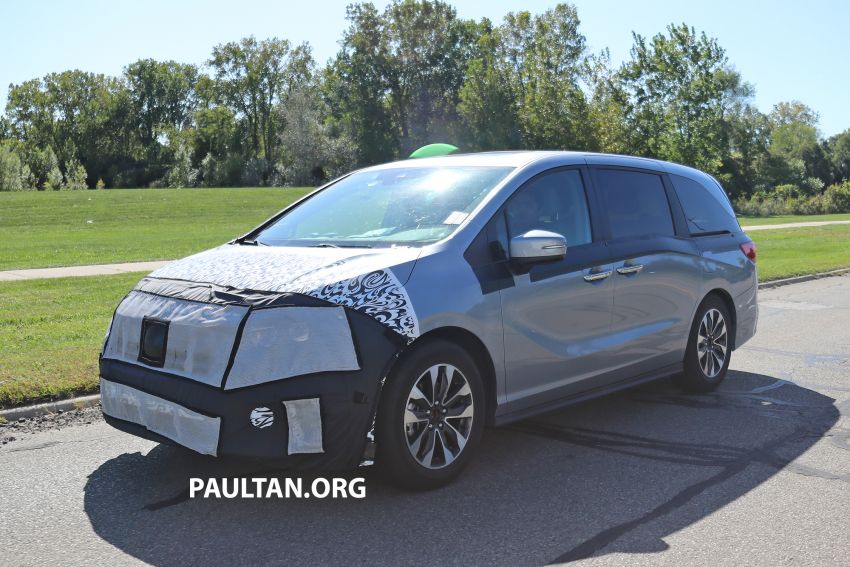 SPYSHOTS: 2021 Honda Odyssey facelift – US-spec Image #1023317