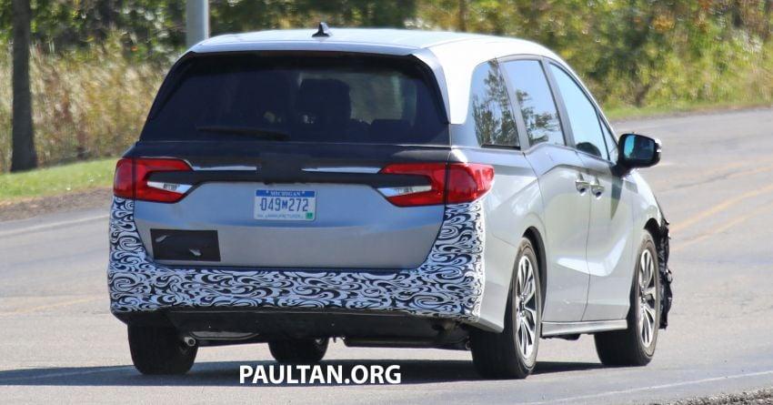 SPYSHOTS: 2021 Honda Odyssey facelift – US-spec Image #1023322