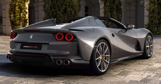 Ferrari 812 GTS revealed - open-top V12 with 789 hp