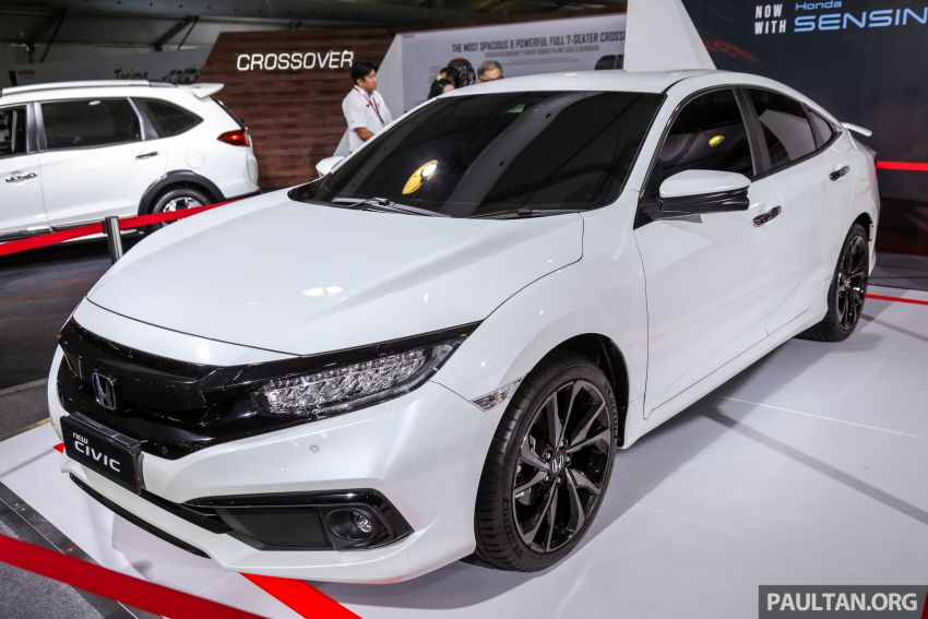 Honda Civic facelift previewed in Malaysia – now with Honda Sensing, boot spoiler and 18-inch alloy wheels Image #1022923