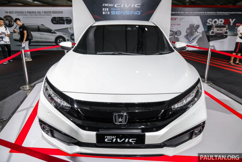 Honda Civic facelift previewed in Malaysia – now with Honda Sensing, boot spoiler and 18-inch alloy wheels Image #1022926
