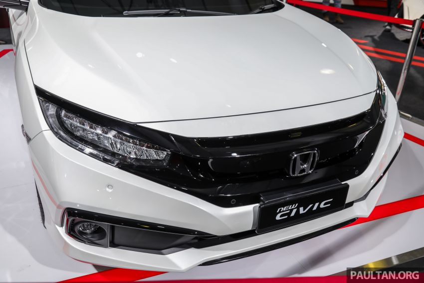Honda Civic facelift previewed in Malaysia – now with Honda Sensing, boot spoiler and 18-inch alloy wheels Image #1022928