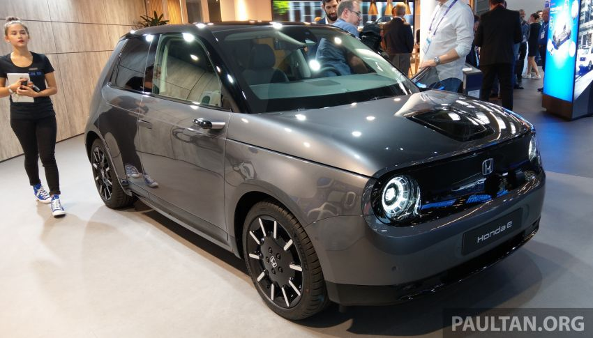 Honda e on display at the 2019 Frankfurt Motor Show – two outputs; priced from RM136,108 in Germany Image #1013860