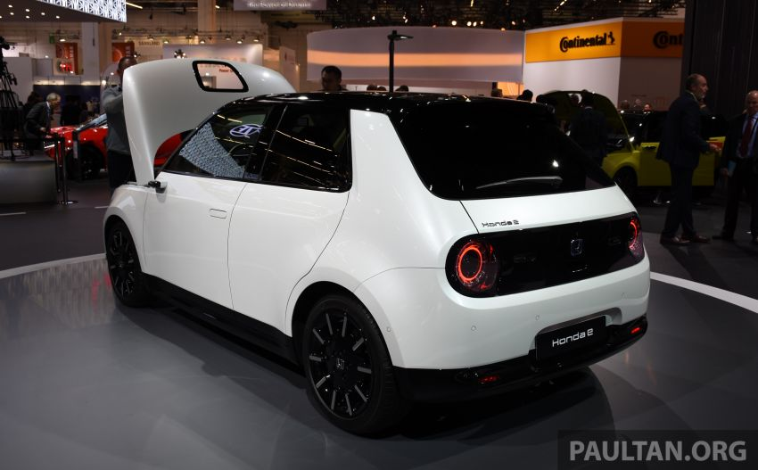 Honda e on display at the 2019 Frankfurt Motor Show – two outputs; priced from RM136,108 in Germany Image #1013867