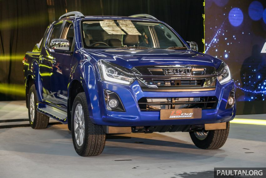 2019 Isuzu D-Max facelift launched in Malaysia – new 150 PS/350 Nm 1.9L Ddi; priced from RM80k-RM121k Image #1017961