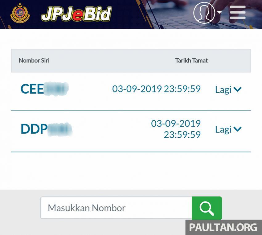 JPJ eBid – Kami cuba sendiri sistem bidaan plet atas talian, masih ada ruang untuk penambah baikan Image #1011436