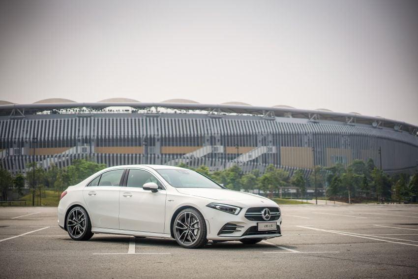 V177 Mercedes-AMG A35 4Matic Sedan launched in M'sia: 306 hp/400 Nm, 0-100 km/h in 4.8 secs, RM349k Image #1020272