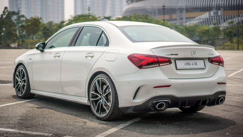 V177 Mercedes-AMG A35 4Matic Sedan launched in M'sia: 306 hp/400 Nm, 0-100 km/h in 4.8 secs, RM349k Image #1020274