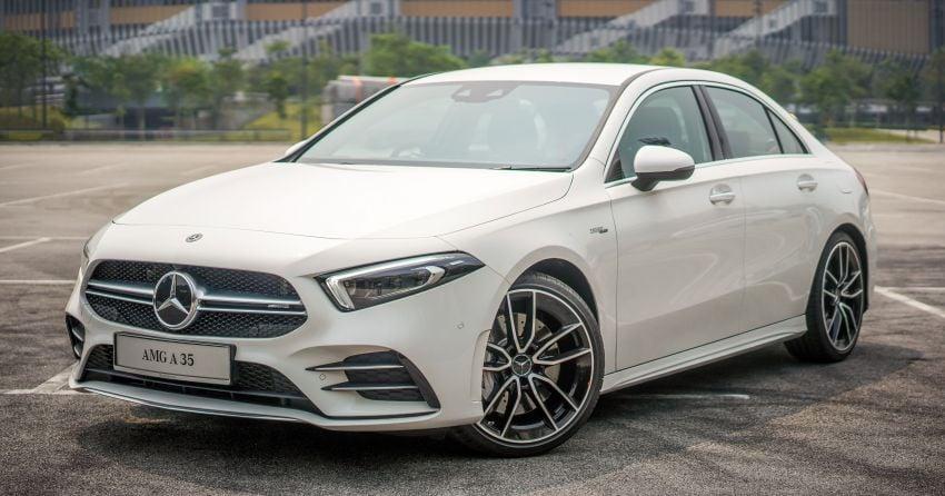 V177 Mercedes-AMG A35 4Matic Sedan launched in M'sia: 306 hp/400 Nm, 0-100 km/h in 4.8 secs, RM349k Image #1020279