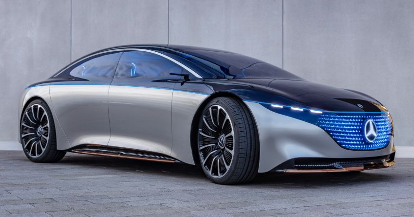 Mercedes-Benz Vision EQS debuts – concept electric flagship with over 470 hp, 760 Nm and 700 km range Image #1012537