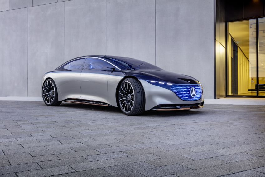 Mercedes-Benz Vision EQS debuts – concept electric flagship with over 470 hp, 760 Nm and 700 km range Image #1012434