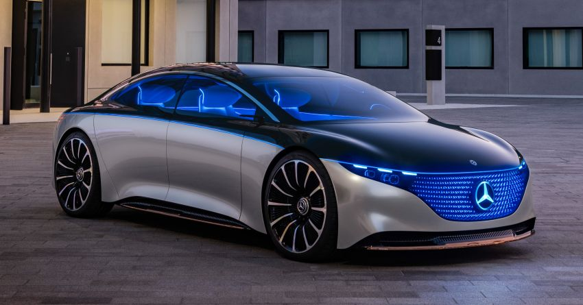 Mercedes-Benz Vision EQS debuts – concept electric flagship with over 470 hp, 760 Nm and 700 km range Image #1012546