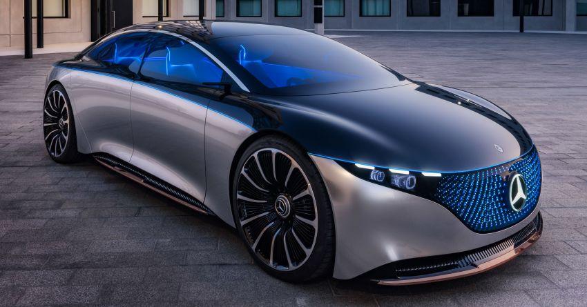 Mercedes-Benz Vision EQS buat penampilan sulung – konsep elektrik, 470 hp/760 Nm, 700 km jarak jalan Image #1012760