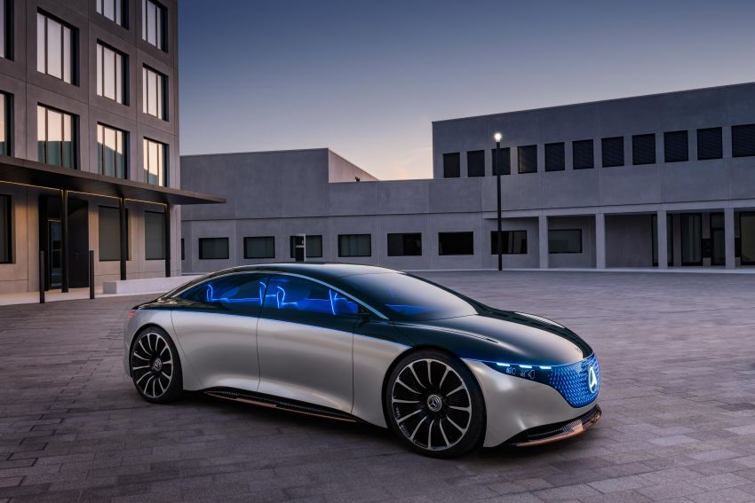 Mercedes-Benz Vision EQS debuts – concept electric flagship with over 470 hp, 760 Nm and 700 km range Image #1012549