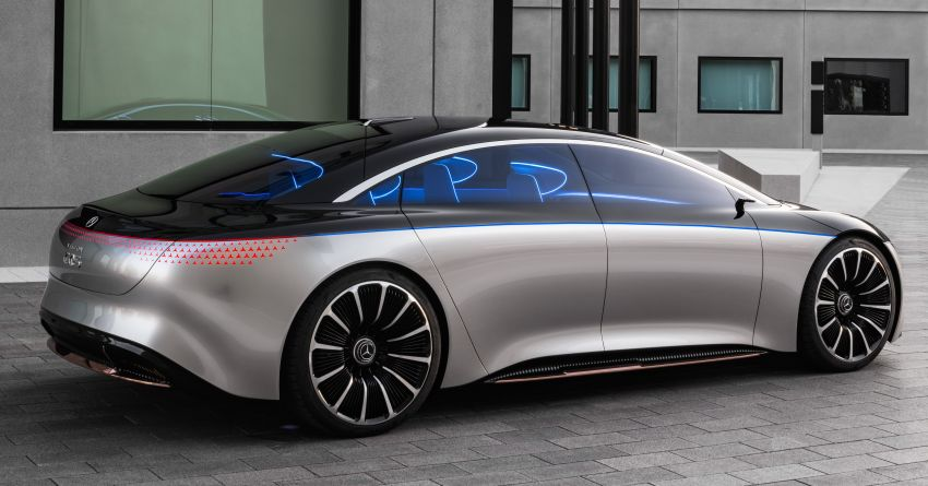 Mercedes-Benz Vision EQS debuts – concept electric flagship with over 470 hp, 760 Nm and 700 km range Image #1012550