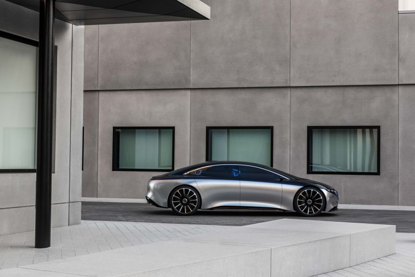 Mercedes-Benz Vision EQS debuts – concept electric flagship with over 470 hp, 760 Nm and 700 km range Image #1012551