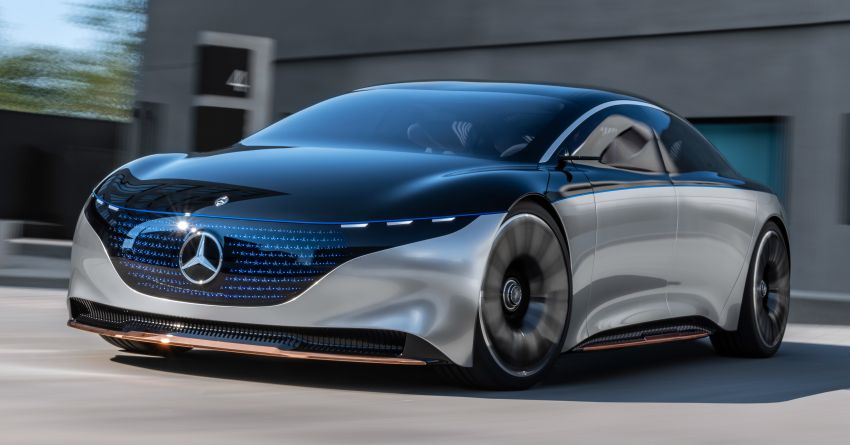 Mercedes-Benz Vision EQS debuts – concept electric flagship with over 470 hp, 760 Nm and 700 km range Image #1012553