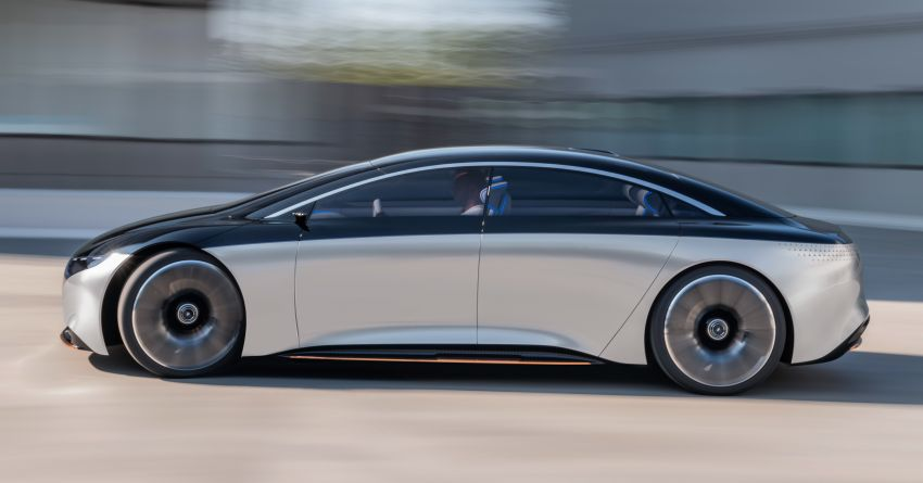 Mercedes-Benz Vision EQS debuts – concept electric flagship with over 470 hp, 760 Nm and 700 km range Image #1012554