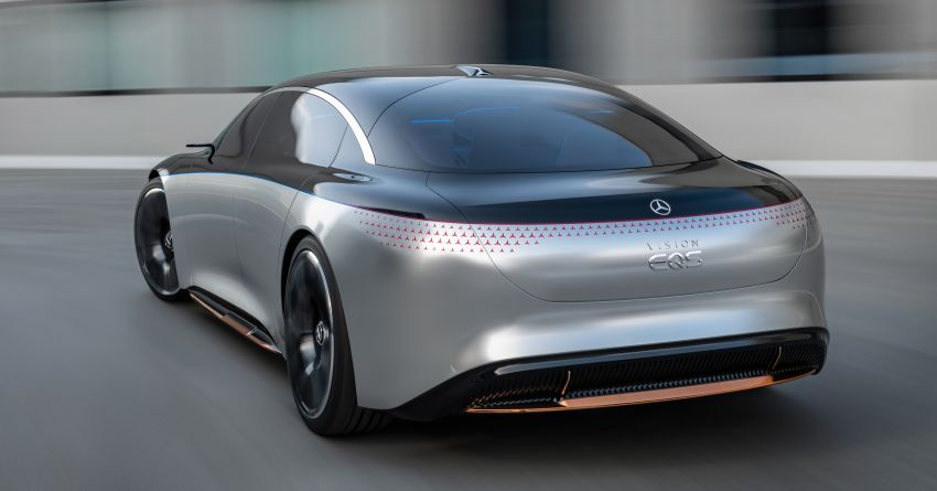 Mercedes-Benz Vision EQS debuts – concept electric flagship with over 470 hp, 760 Nm and 700 km range Image #1012555