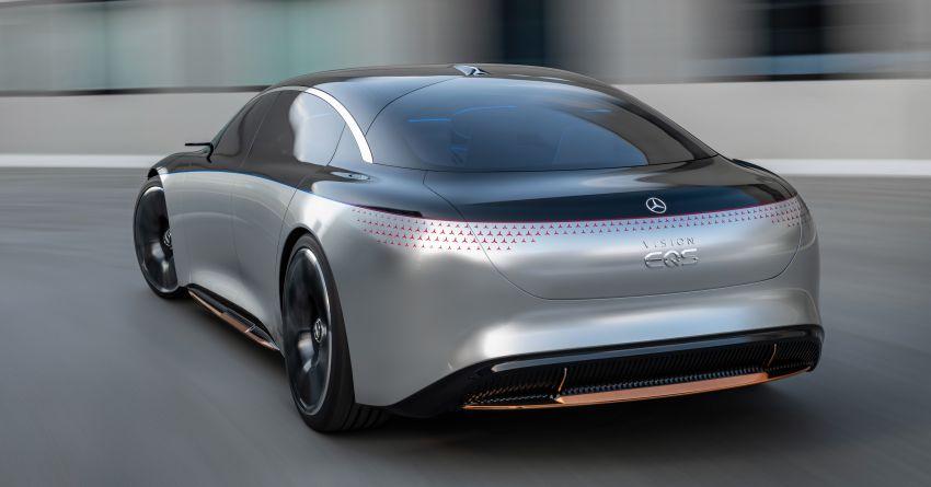 Mercedes-Benz Vision EQS buat penampilan sulung – konsep elektrik, 470 hp/760 Nm, 700 km jarak jalan Image #1012769